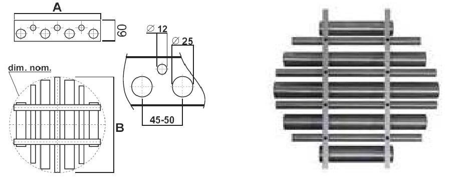 Rejillas magnética tipo redondo