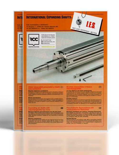 Catálogo de ejes expansibles neumáticos con chavetas intercambiables